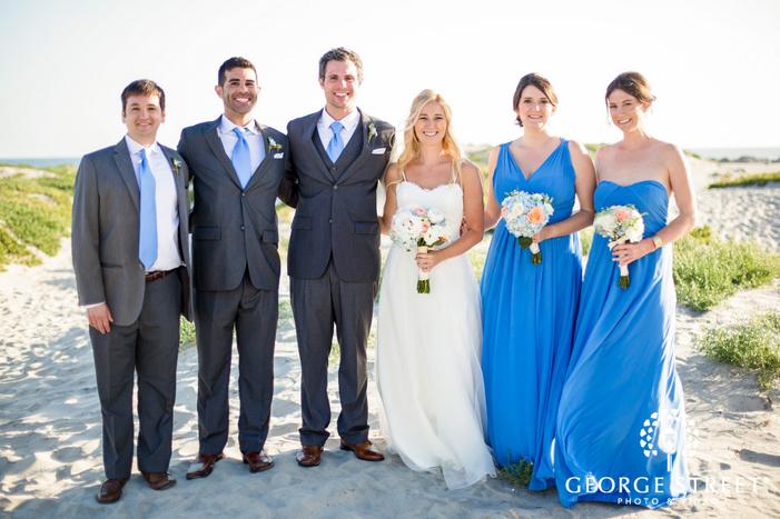 coronado community center charming couple and group at beach san diego wedding photos