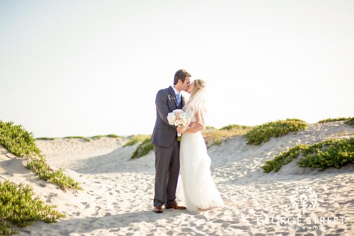 coronado community center intimate bride and groom at coast san diego wedding photos
