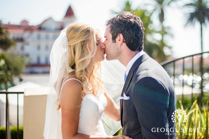 coronado community center romantic couple on terrace san diego wedding photos