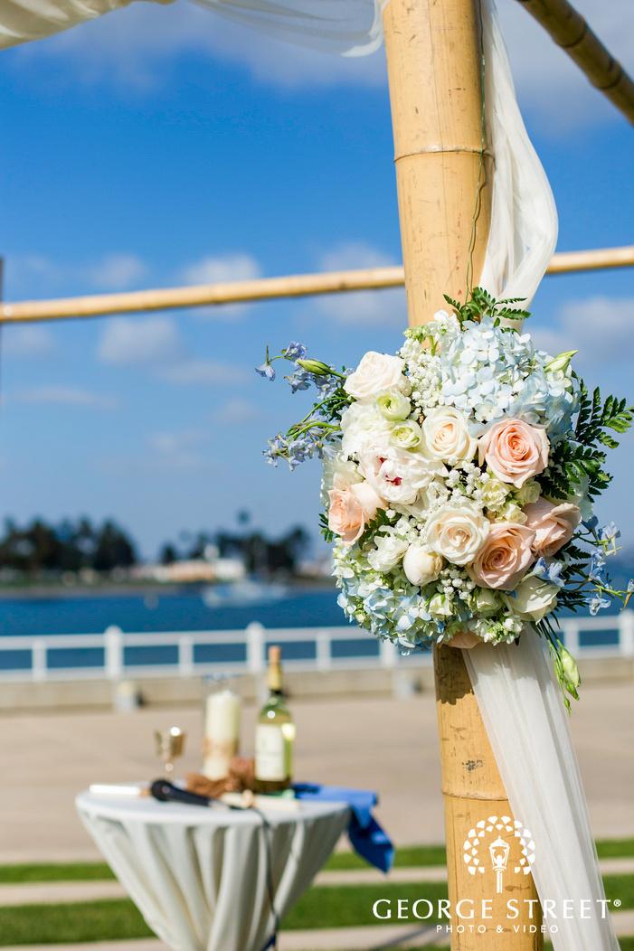 coronado community center san diego ceremony decor details wedding photos