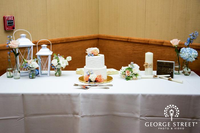 coronado community center san diego wedding dessert table setting wedding photos