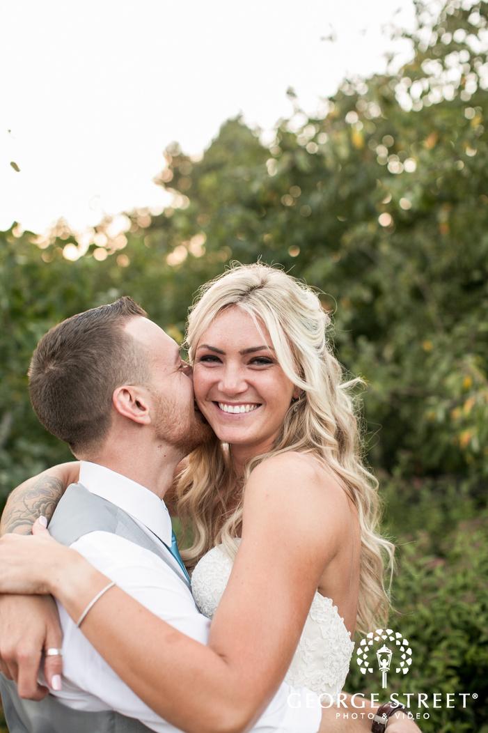 beautiful sunny bride and groom outdoor portraits pickering barn seattle wedding