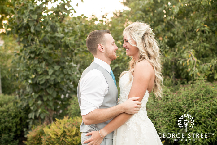 beautiful sunny bride and groom outdoor portraits pickering barn seattle wedding candid