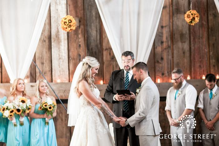 pickering barn seattle rustic wedding ceremony venue
