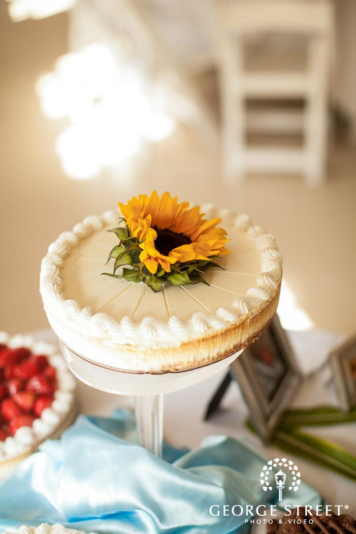pickering barn seattle wedding reception dessert table cheesecake