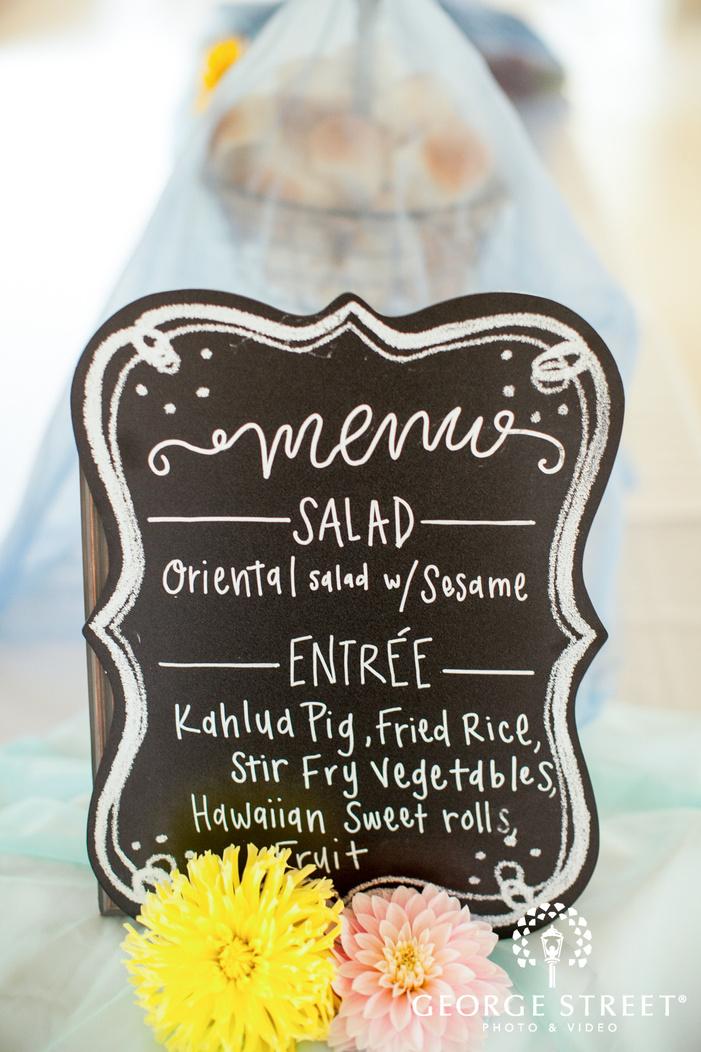 pickering barn seattle wedding reception menu