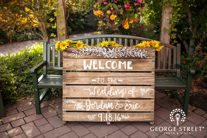 pickering barn seattle wedding rustic diy sign