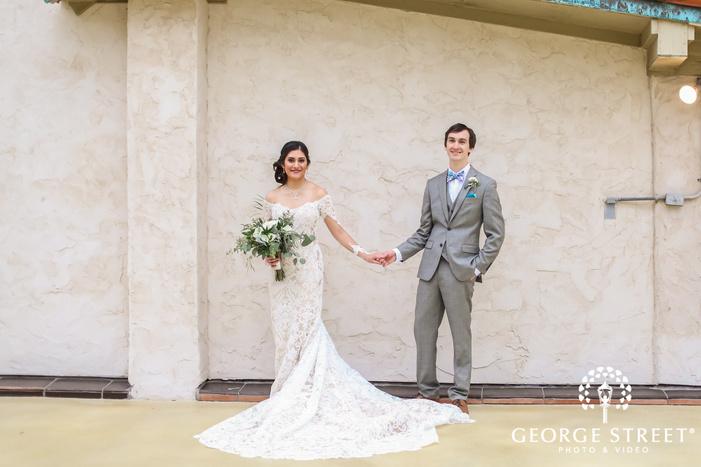 happy bride and groom on terrace wedding photography