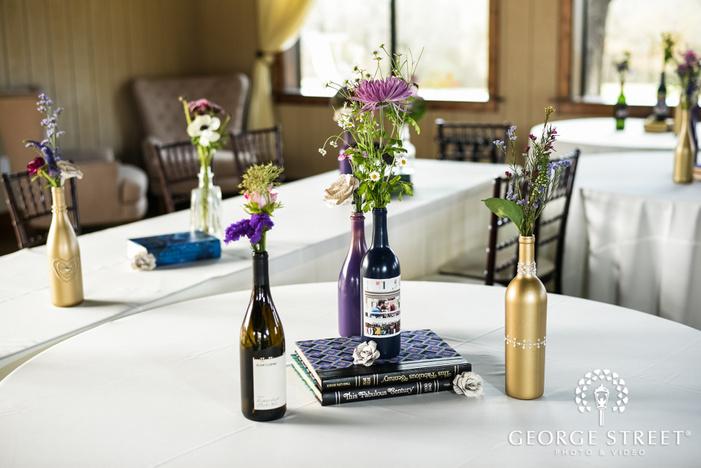 adorable reception table decor details wedding photo