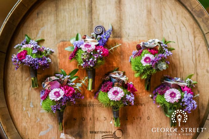 beautiful reception bouquets wedding photo