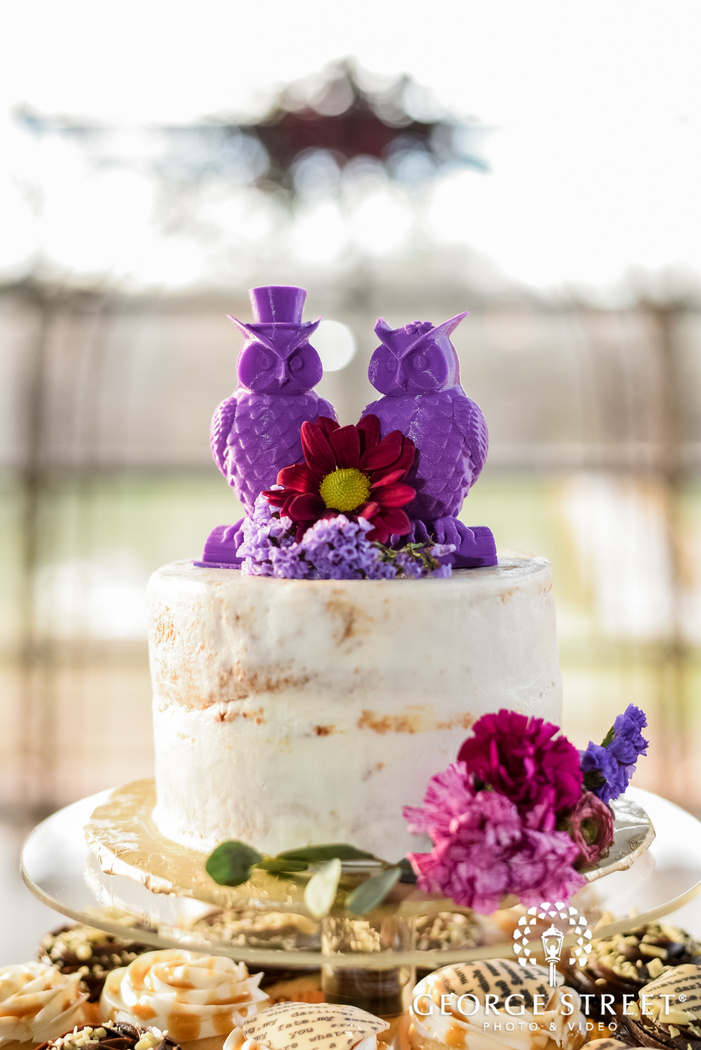 cute cake topper details wedding photography