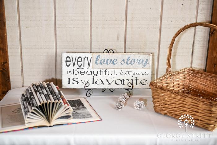 cute wedding decor details wedding photo