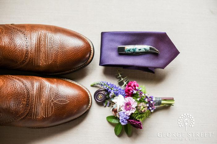 elegant groom accessories details wedding photo