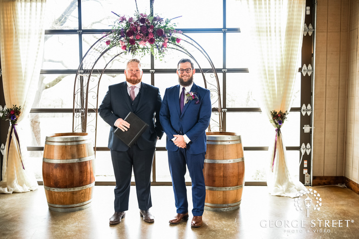 handsome groom first look wedding photography