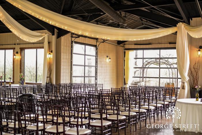 lovely ceremony hall setting wedding photo
