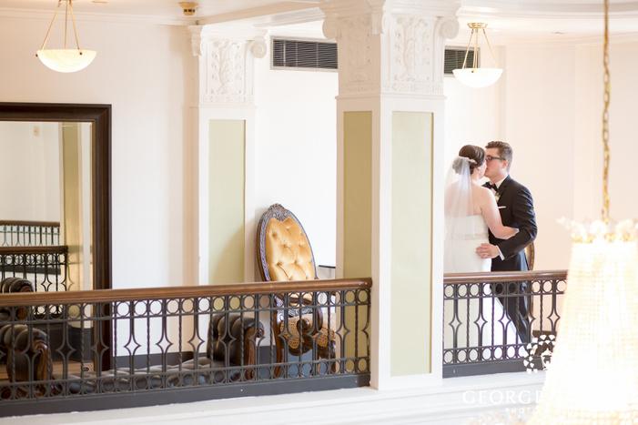unique bride and groom indoor portraits