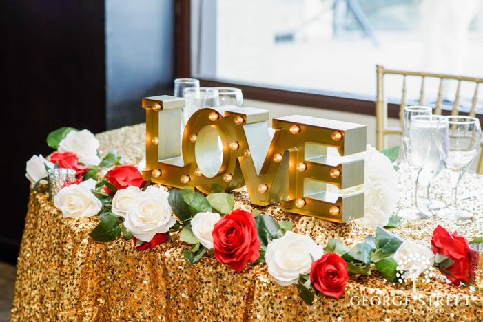 elegant couple table customized detail wedding photography