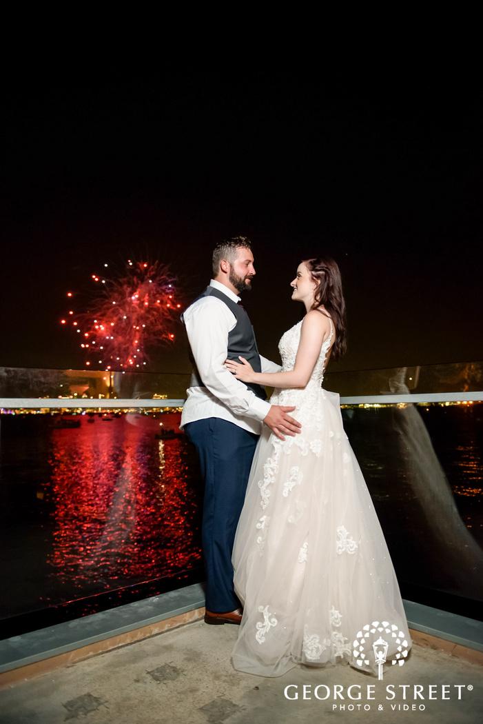 intimate couple outside reception venue wedding photo