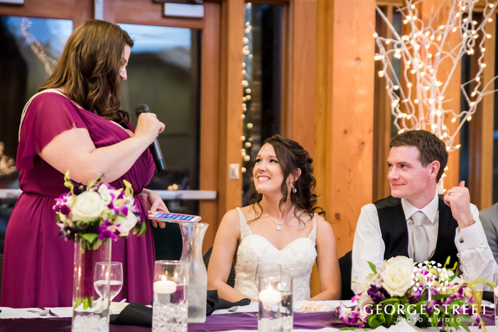 charming couple and guest on reception wedding photography