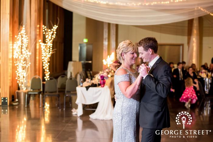 elegant groom and mother reception dance wedding photo
