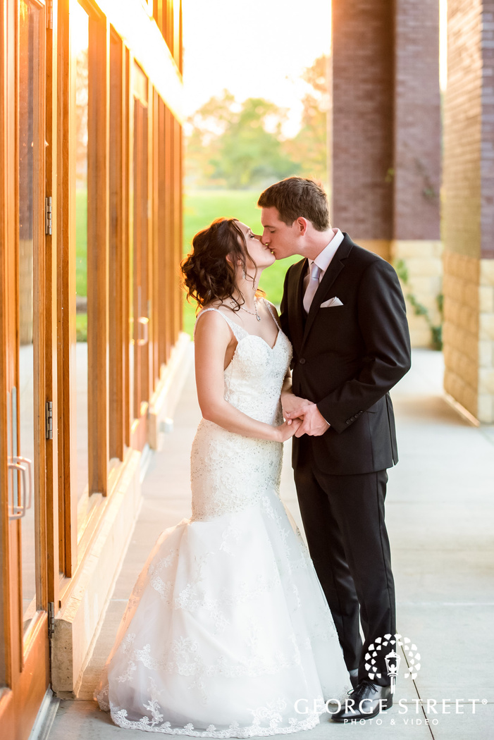 intimate bride and groom at vadnais heights commons in minneapolis