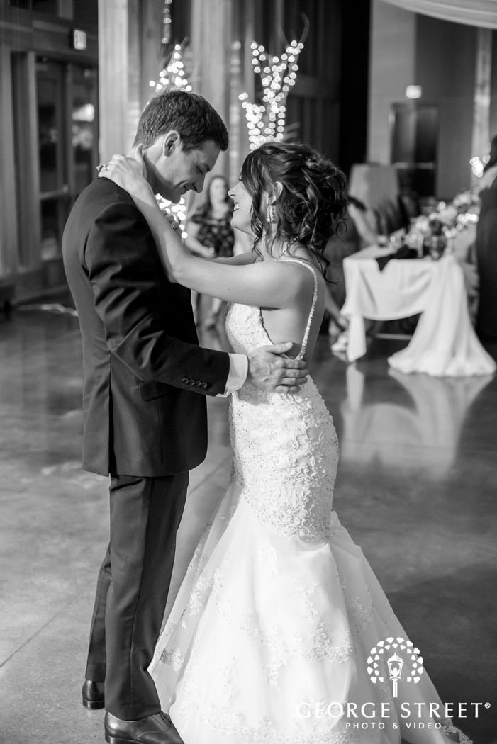 romantic bride and groom first dance wedding photography