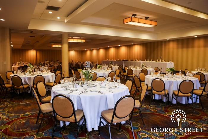 appealing reception hall setup at minneapolis marriott northwest wedding photos