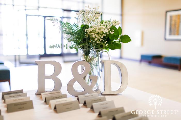 elegant reception halll details at minneapolis marriott northwest wedding photography