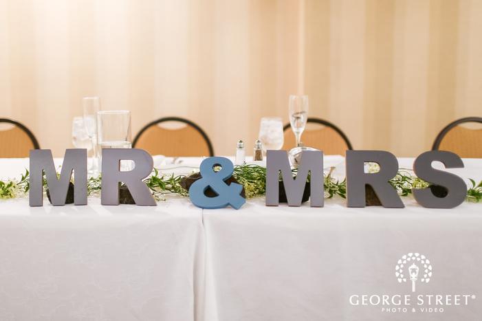 elegant reception halll details wedding photos