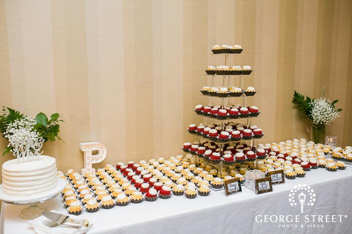 wonderful dessert table at minneapolis marriott northwest wedding photo