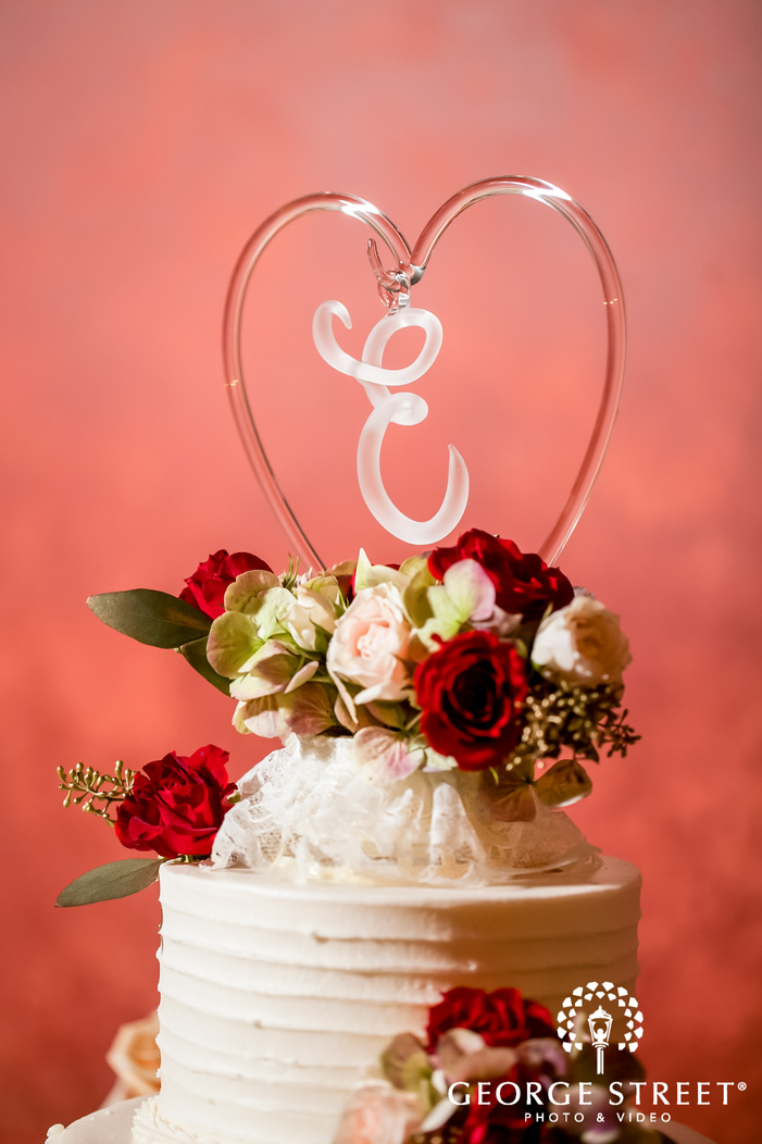 delicious wedding cake topper wedding photo