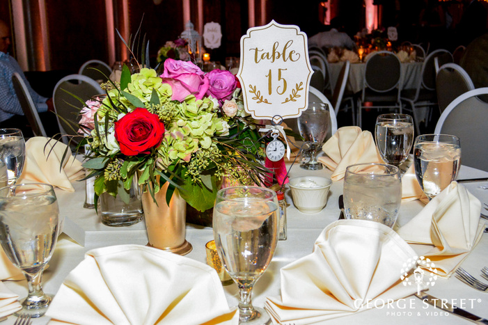 elegant reception table decor
