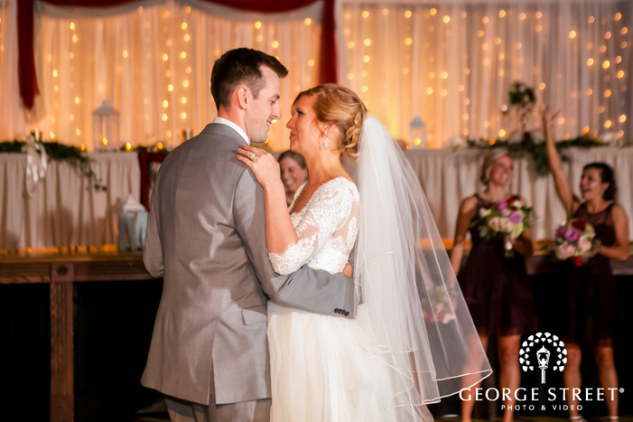 lovely bride and groom reception dance