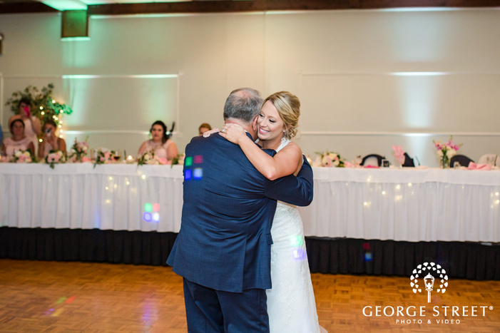 cute bride and father reception dance wedidng photo