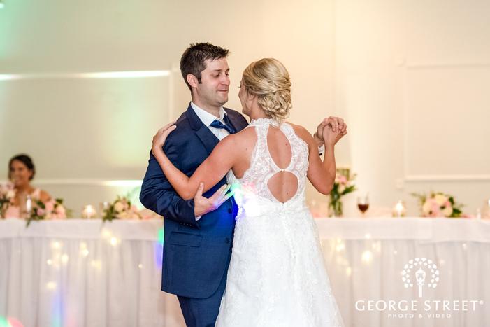 gorgeous couple first dance wedding photo
