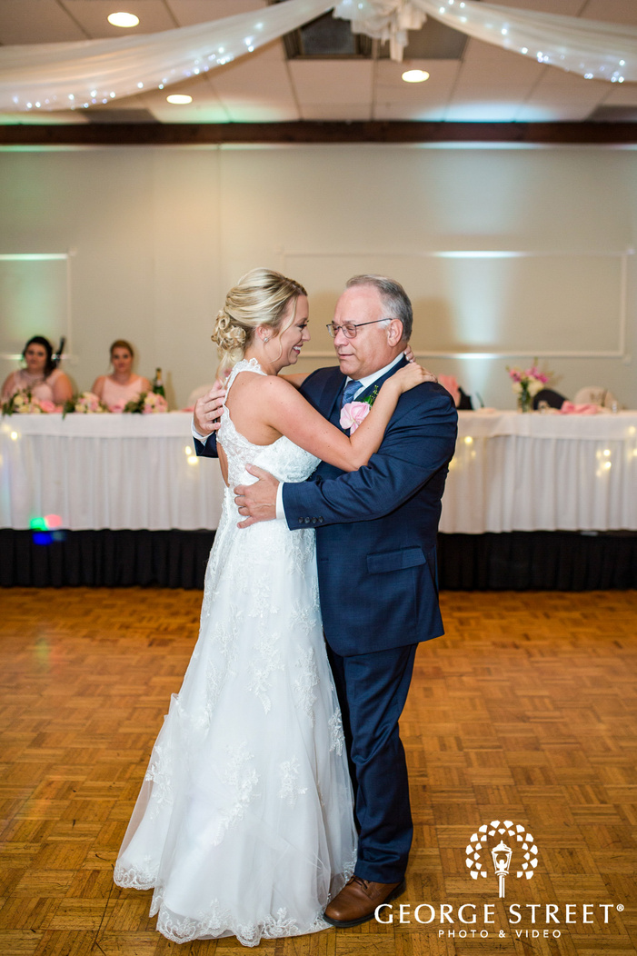 happy bride and father reception dance wedidng photo