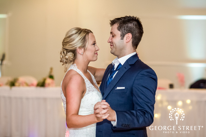 lovely bride and groom first dance wedding photos