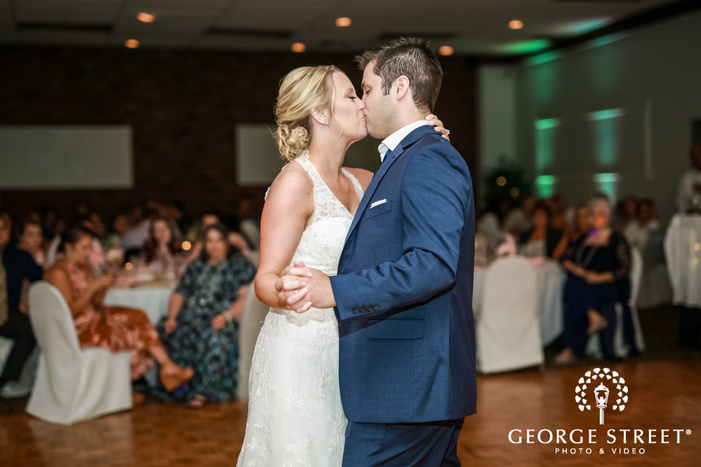 romantic bride and groom reception dance wedding photography