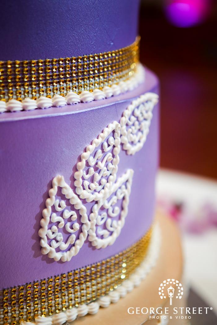 purple decorative wedding cake
