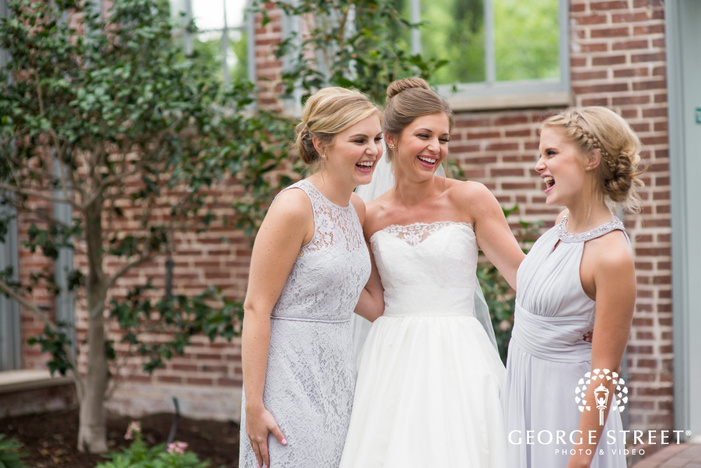 missouri Botanical Garden St  Louis wedding beautiful bridesmaid portraits candid