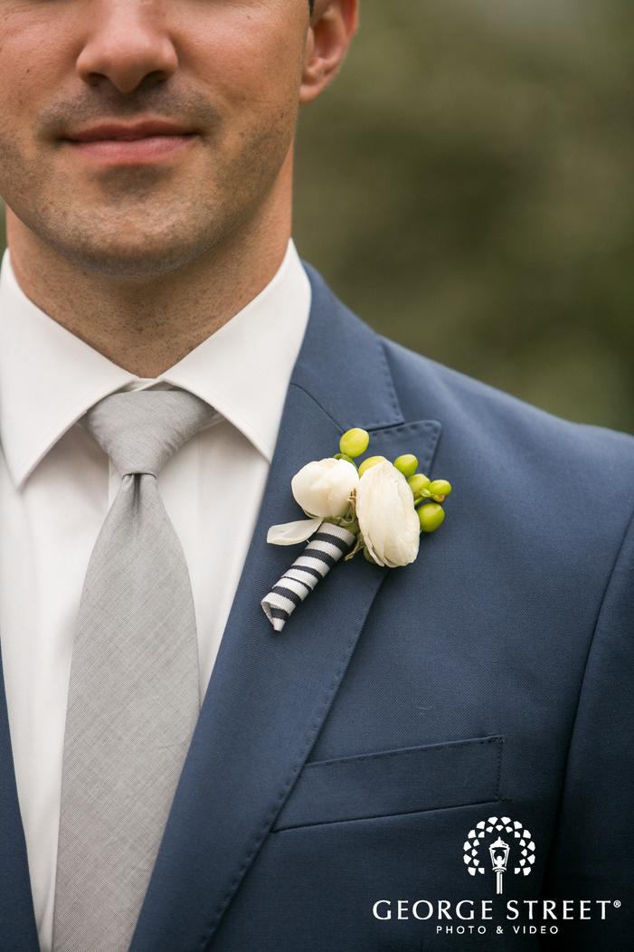missouri Botanical Garden St  Louis wedding groom boutonniere detail inspiration