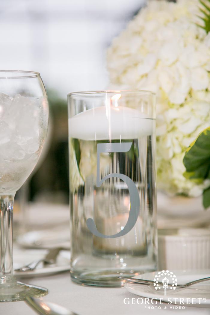 missouri Botanical Garden St  Louis wedding reception table decor