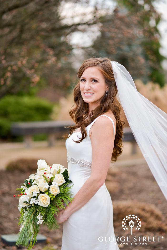 bella sera pittsburgh outdoor wedding bridal portrait
