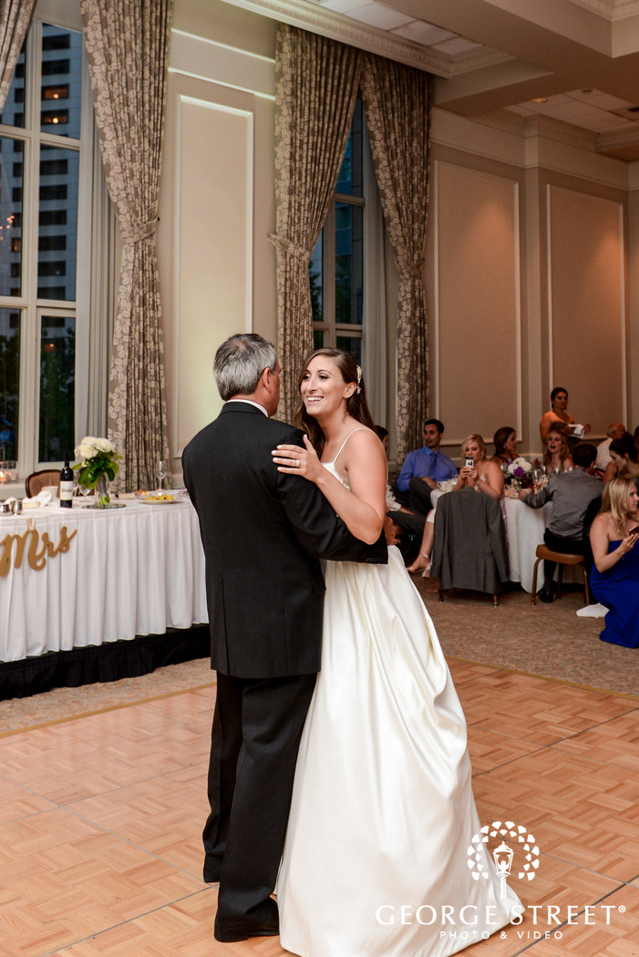 adorable bride and father reception dance wedding photo