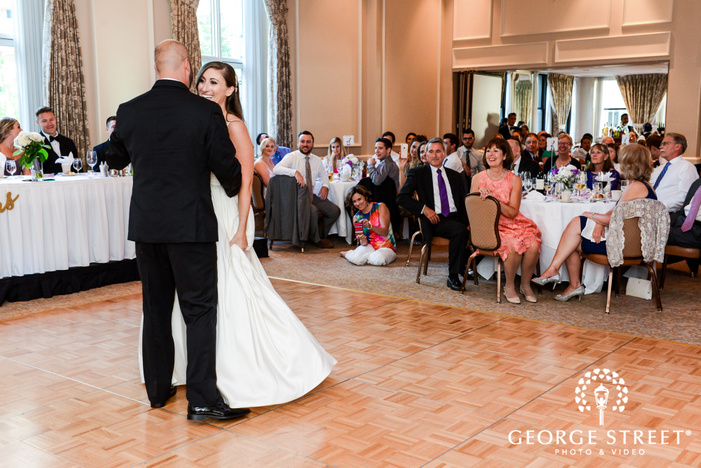 charming bride and groom first dance wedding photography