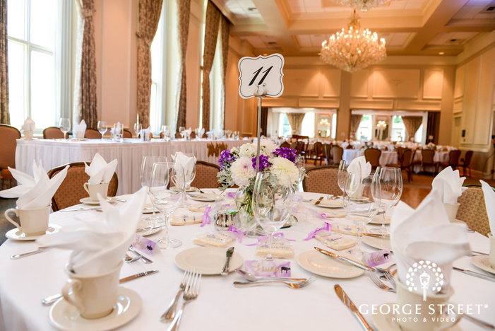 classy reception table details wedding photo