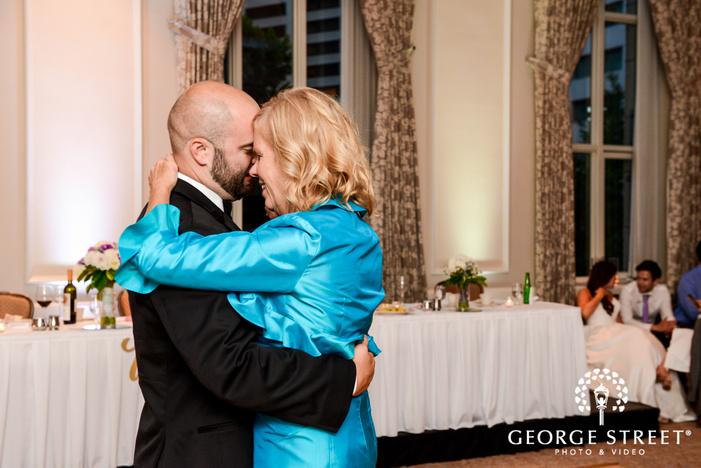cute groom and mother reception dance wedding photos