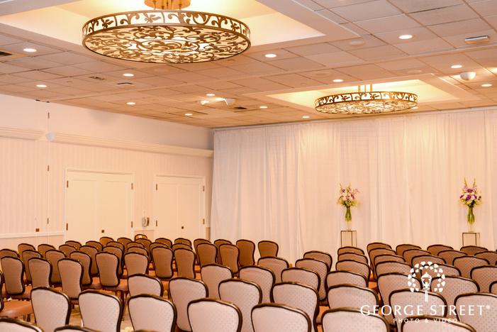 elegant reception hall wedding photo