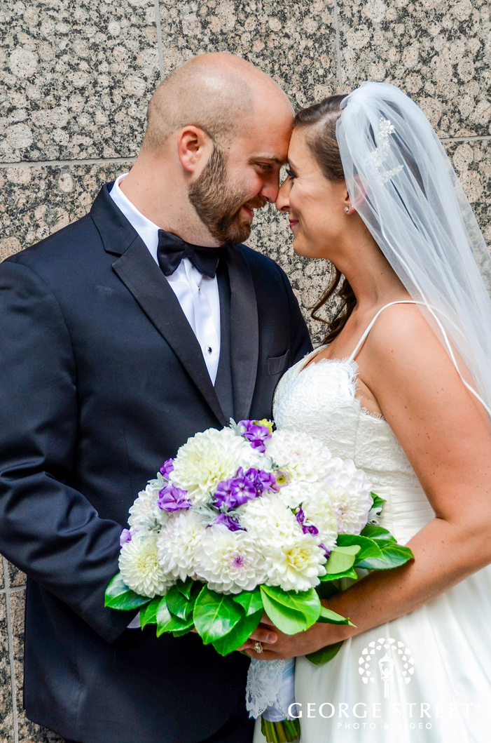 lovely bride and groom wedding photo