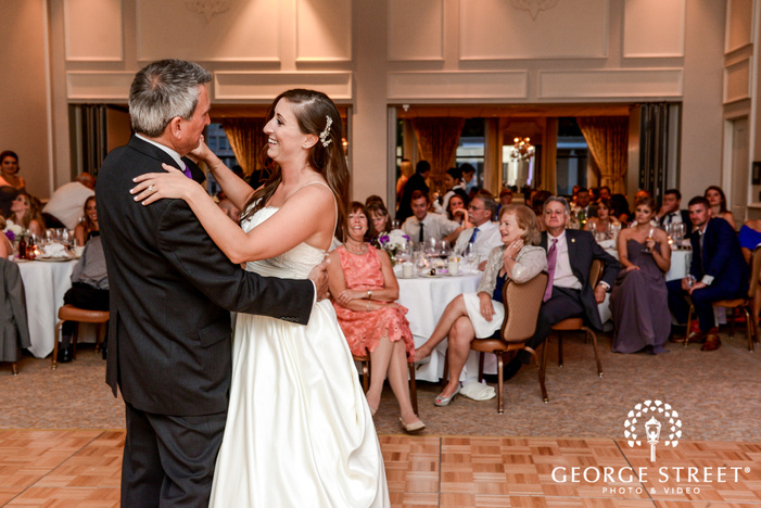 loving bride and father on dance floor wedding photography
